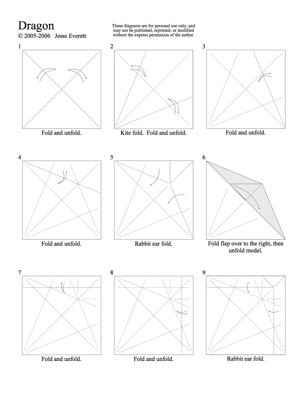 Origami Dragon Page 1