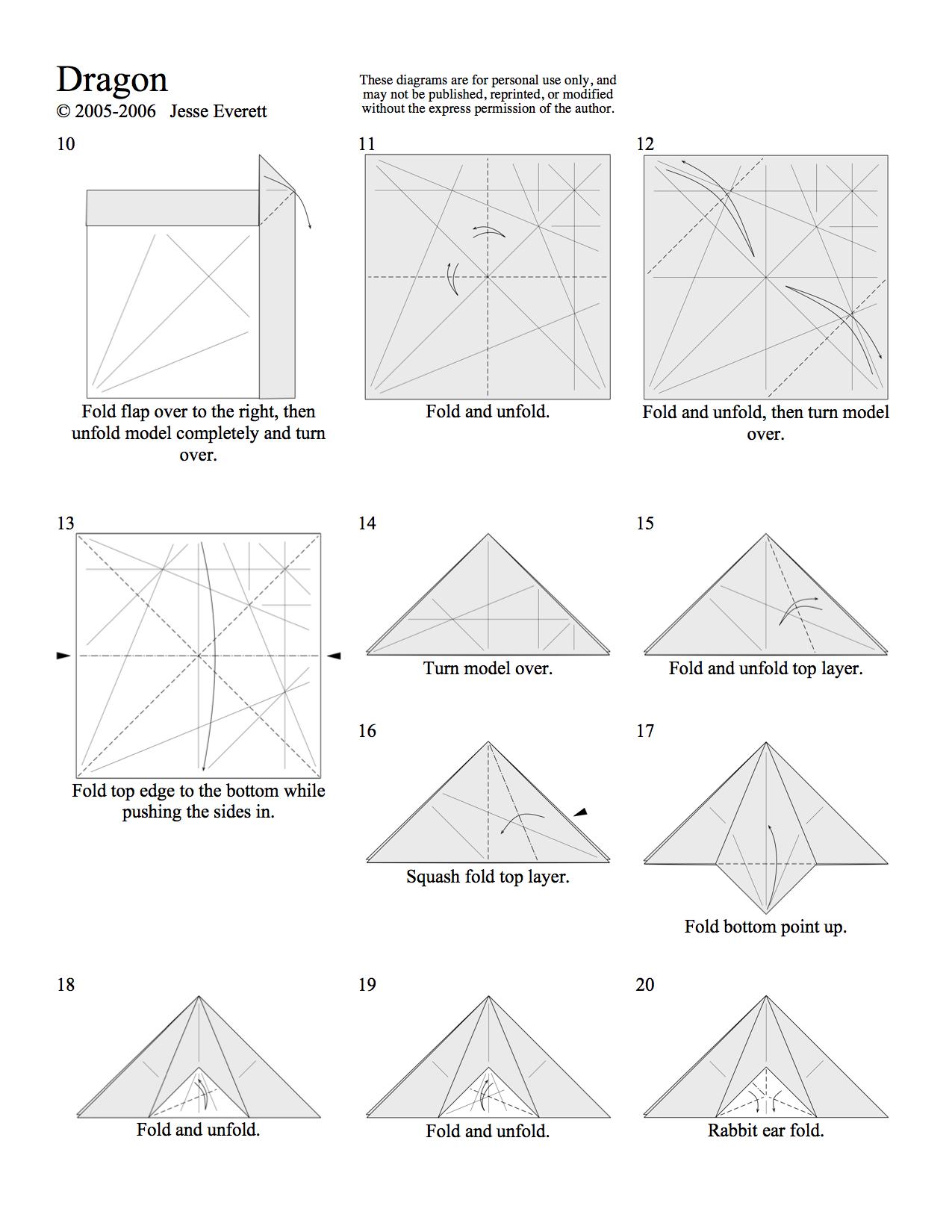Origami Dragon Page 2