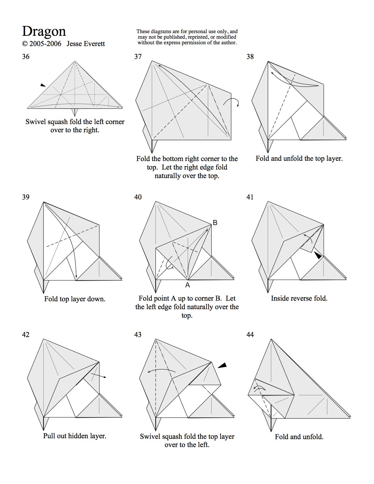 Origami Dragon Page 4