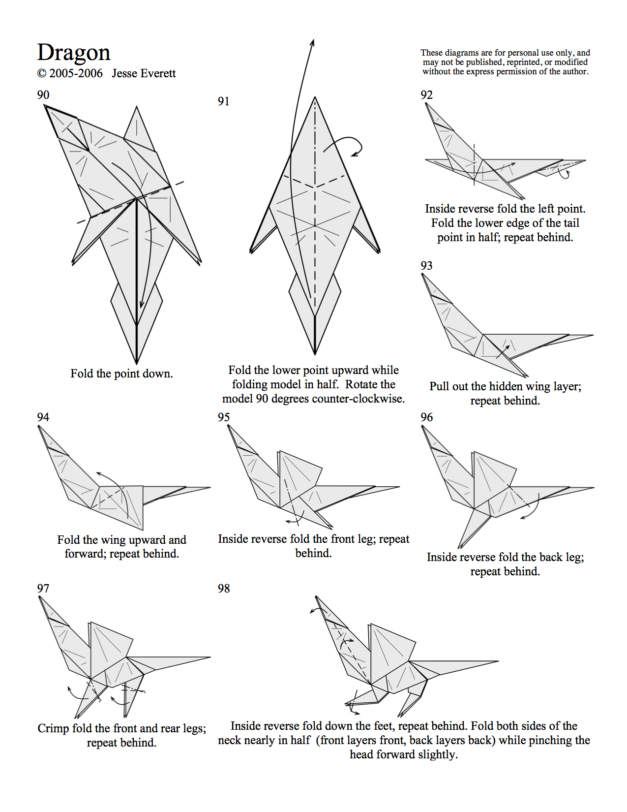 Simple Step By Step Origami Dragon Easy Drawings For Kids ... - photo#27