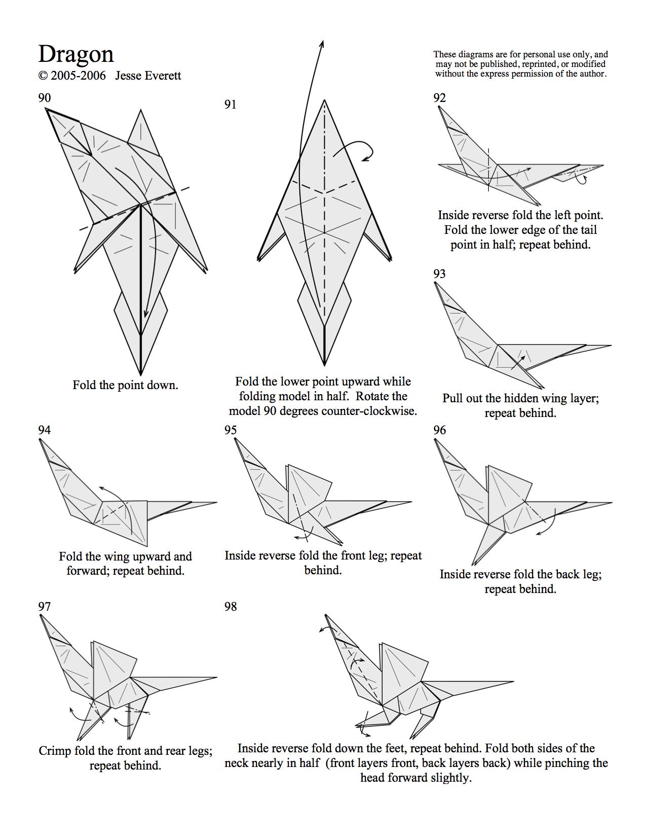 origami dragon in progress rh inprogressgaming com origami dragon diagrams complex origami dragon diagrams